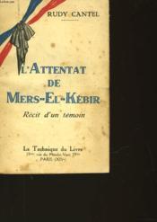 L'Attentat De Mers-El- Kebir - Couverture - Format classique