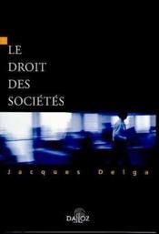Le Droit Des Societes - Couverture - Format classique