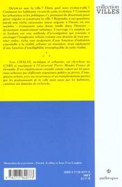 L'Invention De La Ville - 4ème de couverture - Format classique