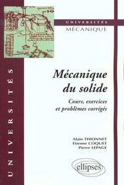 Mecanique Du Solide Cours Exercices Et Problemes Corriges - Intérieur - Format classique