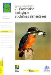 7 - patrimoine biologique et chaines alimentaires - Couverture - Format classique