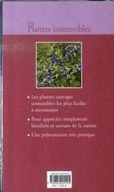 Les plantes comestibles - 4ème de couverture - Format classique