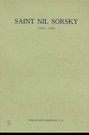 Saint Nil Sorskij (1433-1508) - Couverture - Format classique