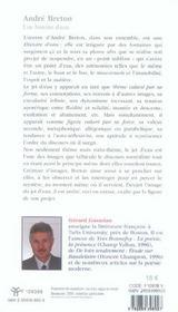 Andre breton - 4ème de couverture - Format classique