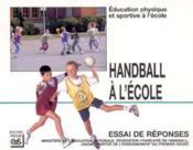 Handball à l'école - Couverture - Format classique