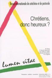 Chretiens Donc Heureux Revue 2002/4 - Couverture - Format classique