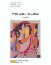 Profession : consultant 4eme edition (4e édition) - Intérieur - Format classique