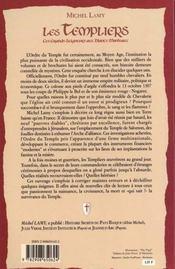 Les templiers ; ces grands seigneurs aux blancs manteaux - 4ème de couverture - Format classique