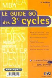 Guide Go Des 3e Cycles 2001 - Intérieur - Format classique