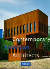 Ad-contemp american architects vol - Couverture - Format classique