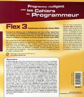 Flex 3 ; applications internet riches - 4ème de couverture - Format classique