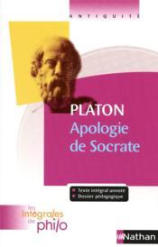 Platon ; apologie de Socrate - Couverture - Format classique