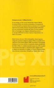 Pie XII ; le dossier - 4ème de couverture - Format classique