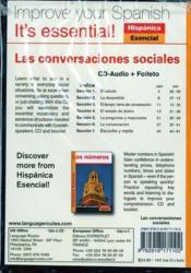 Hispanica : las conversaciones - 4ème de couverture - Format classique