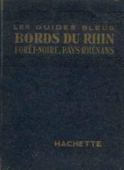 Bords du rhin -foret-noire, pays rhenan 1953 - Couverture - Format classique
