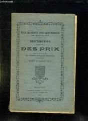 Distribution Solennelle Des Prix Sous La Presidence De Marty Du 23 Juillet 1912. - Couverture - Format classique