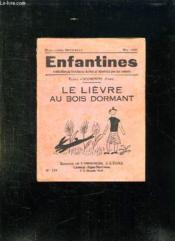 Enfantines N° 153 Mai 1950. Le Lievre Au Bois Dormant. - Couverture - Format classique