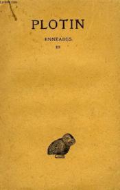 Enneades, Tome Iii - Couverture - Format classique
