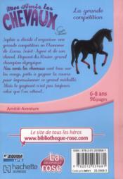 Mes amis les chevaux T.2 ; la grande compétition - 4ème de couverture - Format classique