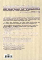 Reussir le delf niveau b2 du cadre europeen commun de reference - 4ème de couverture - Format classique