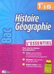 Histoire-géographie ; 1ère L-ES - Intérieur - Format classique