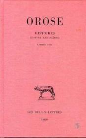 Histoires ( contre les païens ) t.1 ; livres I-III - Couverture - Format classique