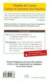 Contes et histoires des flandres - 4ème de couverture - Format classique