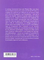 Philosophie De Woody Allen - 4ème de couverture - Format classique