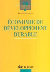 Economie du developpement durable - Intérieur - Format classique