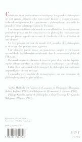 Les philosophies de l'humanité - 4ème de couverture - Format classique