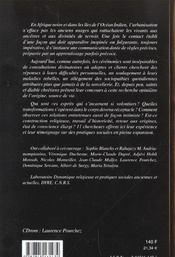 Familiarite avec les dieux. transe et possession (afrique noire, mada gascar, la reunion) - 4ème de couverture - Format classique