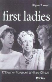 First ladies - Couverture - Format classique