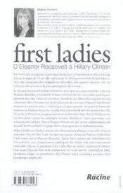 First ladies - 4ème de couverture - Format classique