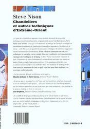 Chandeliers Et Autres Techniques D'Extreme-Orient - 4ème de couverture - Format classique