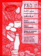 Food balance sheets 1999-2001, average ; bilans alimentaires moyenne 1999-2001 hojas de balance de alimen - Couverture - Format classique