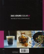 365 jours Solar ; Cuisine.tv, la cuisine au jour le jour - 4ème de couverture - Format classique