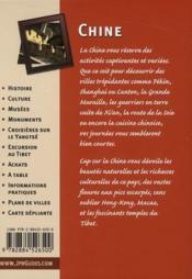 CAP SUR ; Chine (2e édition) - 4ème de couverture - Format classique