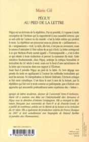 Péguy au pied de la lettre ; la question du litteralisme dans l'oeuvre de Péguy - 4ème de couverture - Format classique