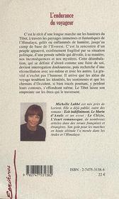 L'Endurance Du Voyageur - 4ème de couverture - Format classique