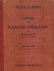Cours De Langue Anglaise. Classe De Troisieme. - Couverture - Format classique