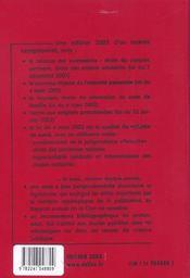 Code Civil 2003 ; 102e Edition - 4ème de couverture - Format classique