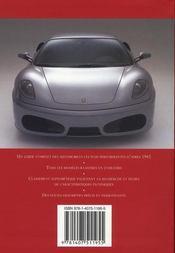 Les voitures les plus performantes - 4ème de couverture - Format classique