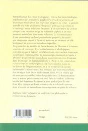 Critique de l'antinaturalisme ; études sur Foucault, Butler, Habermas - 4ème de couverture - Format classique