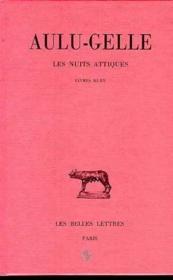 Nuits attiques t3 l11-15 - Couverture - Format classique