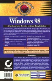 Windows 98 mode d'emploi - 4ème de couverture - Format classique
