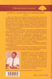 Le Fuuta-Jaloo face à la colonisation t.1 - 4ème de couverture - Format classique