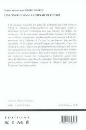Incongru dans la litterature et l'art (l') - 4ème de couverture - Format classique