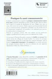 Pratiquer La Sante Communautaire - 4ème de couverture - Format classique