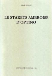 Le starets Ambroise d'Optino - Couverture - Format classique