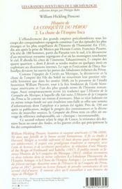 Histoire De La Conquete Du Perou T2 - 4ème de couverture - Format classique